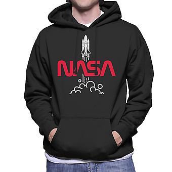 NASA-Shuttle Launch Logo Herren Sweatshirt mit Kapuze