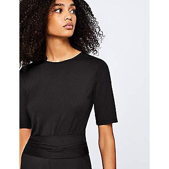 見つける。女性&アポスのジャンプスーツリブジャージークロップフィット半袖、ブラック、EU XS(U..