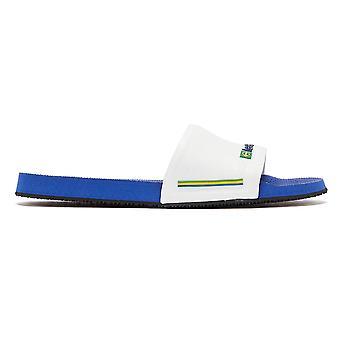Havaianas Brasil Mens Blue / White Slides