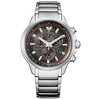 Citizen AT2470-85H Eco-Drive Super Titanium chronograph watch 43 mm