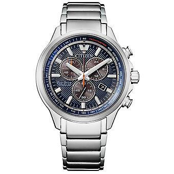 Citizen AT2470-85L Eco-Drive Super Titanium chronograph watch 43 mm