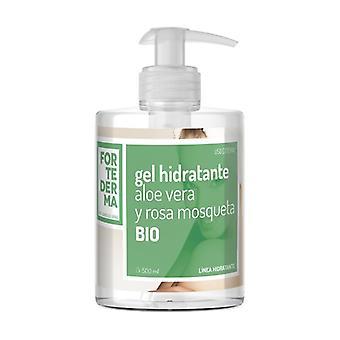 Moisturizing gel Aloe Vera and Rosehip Bio 500 ml of gel