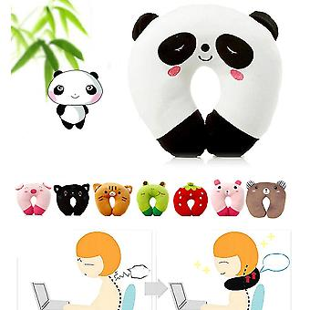Cute Soft U Shaped Plush Sleep Neck Protection Pillow - Office Cushion Lovely Travel Pillows For Children/adult
