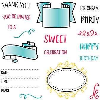 LDRS Creative Party Time Clear Stamps