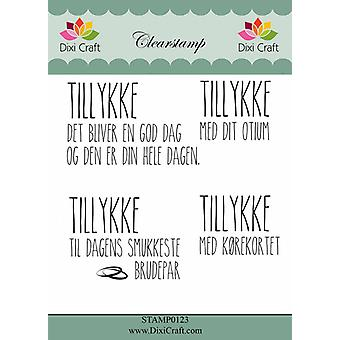Dixi Craft dansk text Clearstamp