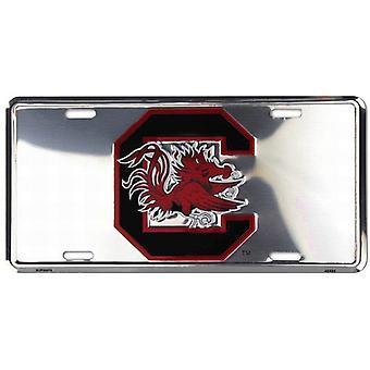 South Carolina Gamecocks NCAA Silver mirror kenteken
