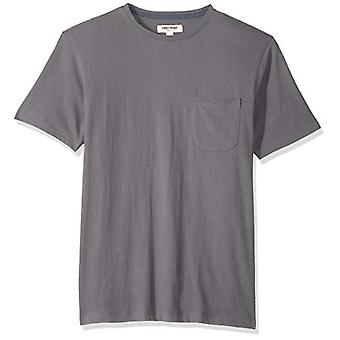 Goodthreads Men's Short-Sleeve Sueded Jersey Crewneck Pocket T-Shirt, Dark Gr...