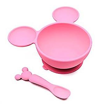 Bowl and Spoon Feeding Set - Minnie Mouse - Pink New FF-DMN