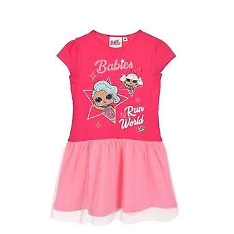 Girls ET1356 LOL Surprise Short Sleeve Dress with Tulle