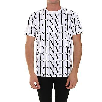 Valentino Uv0mg08j6pea01 Homme-apos;s T-shirt en coton blanc/noir