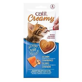 Catit Creamy Salmon y Gambas (Cats , Treats , Chewy & Softer Treats )