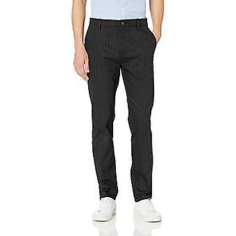 Merkki - Goodthreads Men's Slim-Fit Ryppytön Comfort Stretch Mekko Chino Pant, Musta Pinstripe, 30W x 34L