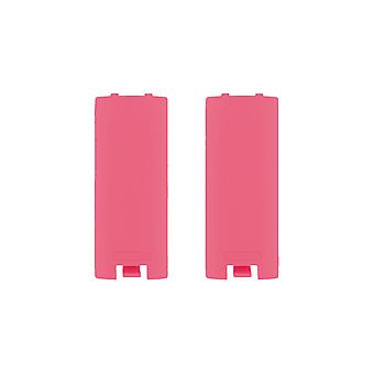 Battery cover for wii & wii u remote nintendo controller cover back - 2 pack pink | zedlabz