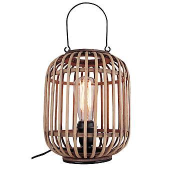 BRILLIANT-lamppu Woodrow Pöytävalaisin kantokahvalla Vaaleanruskea   1x A60, E27, 60W, sopii normaaleihin valaisimista (ei sisälly pakkaukseen)