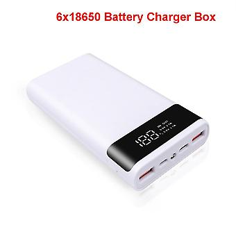 Dual Micro Usb Type-c Power Bank Shell 5v Case Battery Charge Storage Box Without Battery