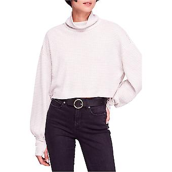Free People | Waffle-Knit Cropped Turtleneck Sweater
