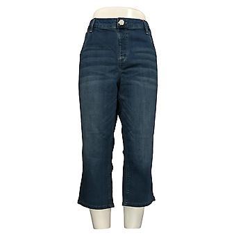 Laurie Felt Women's Jeans Denim Capri Pull-On Blue A378798
