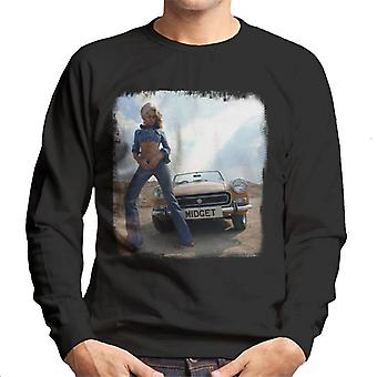 MG Midget British Motor Heritage Men's Sweatshirt
