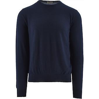 C Collection Corneliani Navy Cashmere Sweater