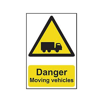 Scan Danger Moving Vehicles - PVC 400 x 600mm SCA4100