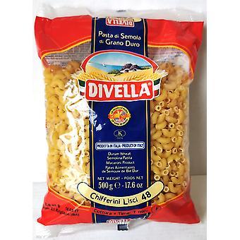 Divella Durum Wheat Chifferini Lisci 48 500g x 24