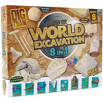 Grafix 8 In 1 World Excavation Dig Kit