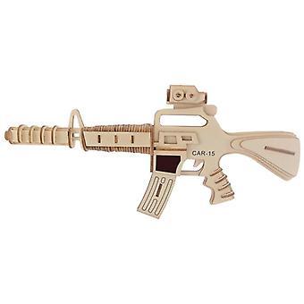 Entwickeln Kinder Intelligenz Holz 3D Puzzle 103 Stück - Gewehr