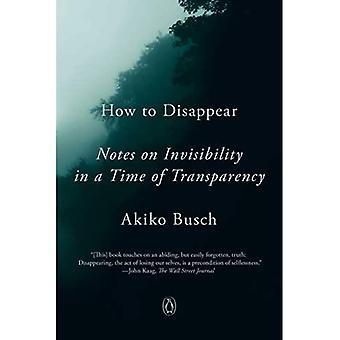 Hoe te verdwijnen: Notities over onzichtbaarheid in een tijd van transparantie