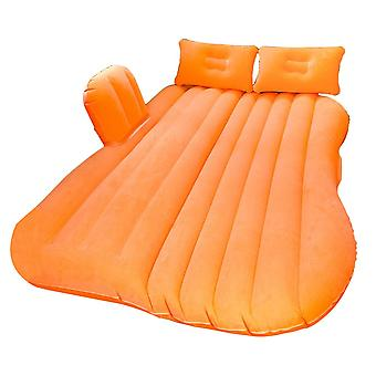 Orange Inflatable Car Air Bed Mattress Back Seat Cushion Part For Hiking