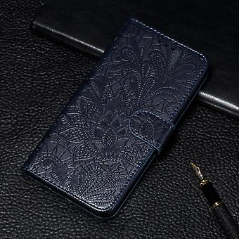 For Huawei P40Lite&Nova 6SE&Nova 7i Lace Flower Embossing Pattern Horizontal Flip Leather Case with Holder & Card Slots & Wallet & Photo Frame & Lanya