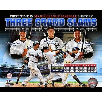 New York Yankees 3 Grand Slams in 1 Game Composite Sports Photo