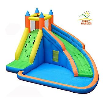 Inflatable Water Slide Pool Jumping Bouncer Castle With Air Blower Carry Bag