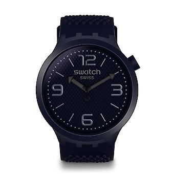 Swatch So27n100 Big Bold relógio de silicone Bbnavy