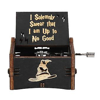 Vintagewooden Hand Music Box-exquisite elegante Musik-Box