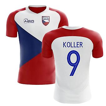 2020-2021 Česká republika Home Concept fotbalové tričko (KOLLER 9)