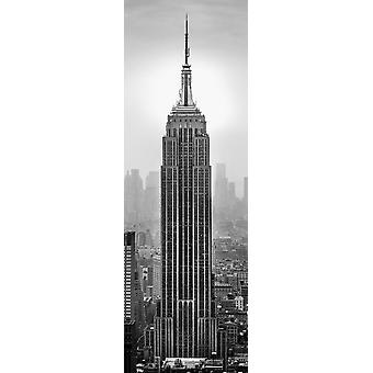 Empire State Building in a city Manhattan New York City New York State USA Poster Print