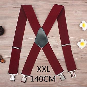 Wide Men Suspenders High Elastic Adjustable Strong Clips Suspender Heavy Duty X