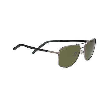 Serengeti Spello 8798 Shiny Gunmetal with Black Temples and Grey inside Temple Tips/Mineral Polarised 555nm Sunglasses