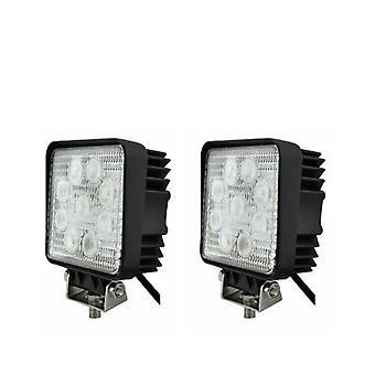 2 X Led Spotlight 27w 9-30v Working 2500 Lumen & Backup Lamp Led Lamp 12v 24v