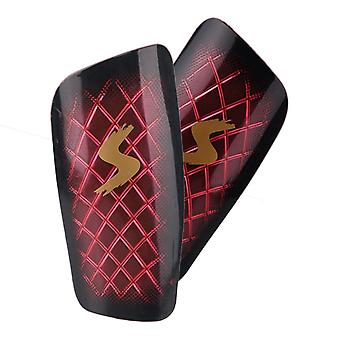 Red PP Plastic and EVA Diamond Transparent Anti-collision Soccer Shin Pads Guard