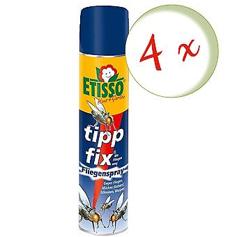 Sparset: 4 x FRUNOL DELICIA® Etisso® Tip fix Fly Spray, 400 ml - also against wasps