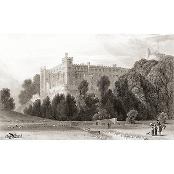 19th century view of Arundel Castle Arundel West Sussex England From Churtons Portrait and Lanscape Gallery published 1836 PosterPrint