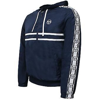 Sergio Tacchini Mens Dangel Spår Top Windbreaker Hooded Jacket Navy 38700 200