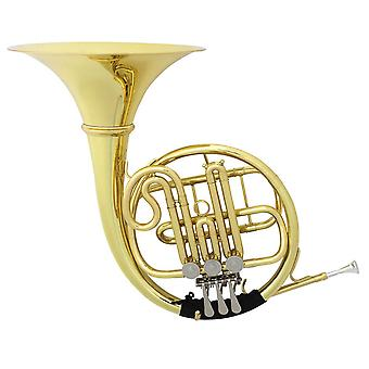 Enkele rij drie /vier sleutel dubbele Franse hoorn Standaard Pure Drop B / F Toon Drie / Vier-knops Single-row Split Horn Instrument