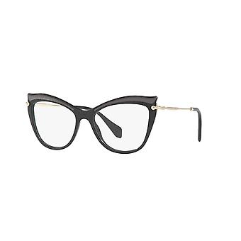 Miu Miu VMU06P VIE1O1 Black Glasses