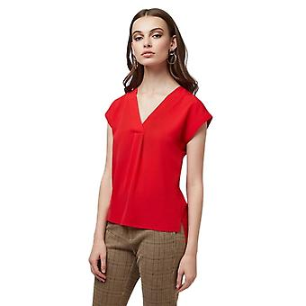 Louche Moroni V-Neck Sleeveless Top Red