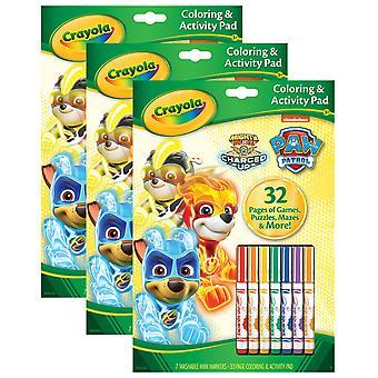 Almohadilla para colorear y actividades con marcadores, Paw Patrol - Bin46918-3