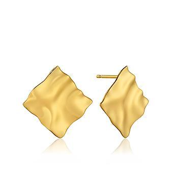 أنيا هاي الفضة لامعة الذهب مطلي سحق مربع مسمار الأقراط E017-03G