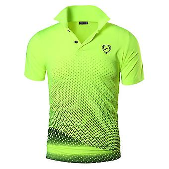 Men's Sport Tee Polo Shirts, Dry Fit Short Sleeve