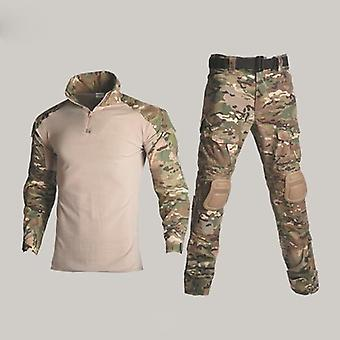 Taktisk Kamuflasje Militær Uniform Menn Dress, Army Klær, Airsoft Militære